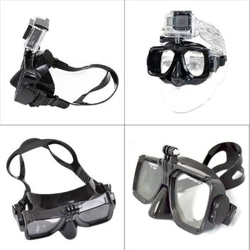 For Go pro high quality Diving Glasses for GoPro Hero 6 5 4 3+ 3 Session SJ4000 SJ5000 SJ6000 sport camera Silicone Swimming