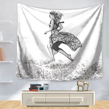 New Arrive 5 Style Sexy Lady Mandala Tapestry Hippie Wall Hanging Tapestries Beach Throw Towel Gypsy Bed Sheet Home Decor