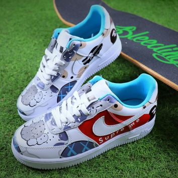 Supreme x Kaws x Bape x Nike Air Force 1 Low AF1 Sport Shoes Sneaker - Best Online Sale