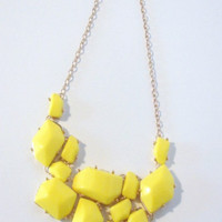 Cluster Necklace-Available in Yellow & Blue