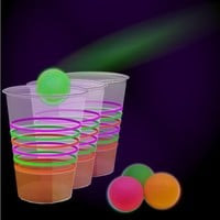 Black Light Reactive Neon Beer Pong Party Pack #79080