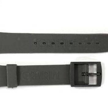 12mm Ladies Dark Gray Replacement Band Strap fits SWATCH watches w/2 Pins