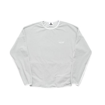 Adidas Palace Fleece Crew Neck Grey | Palace Skateboards