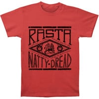 Bob Marley Men's  Natty Dread T-shirt Red Rockabilia