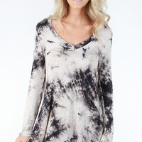 Livin' It Up Tunic - Charcoal