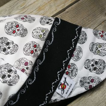 Day of the Dead Hybrid Flannel Lined Size 7 7/8 Welding Cap