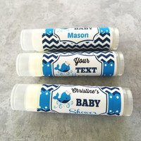 Baby Shower Custom Lip Balm – Whale Theme