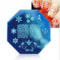 PURISS - Metal Holiday Nail Stamping Plate