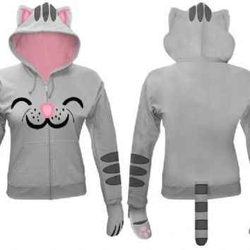 The Big Bang Theory Soft Kitty Gray Juniors Hooded Sweatshirt Hoodie with Ears - The Big Bang Theory - | TV Store Online