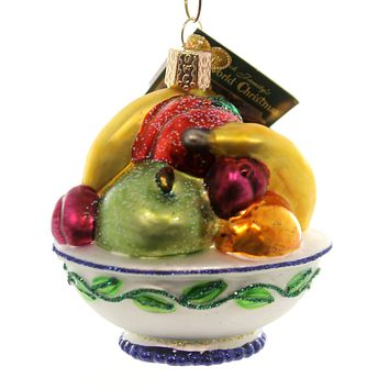 Old World Christmas Fruit Bowl Glass Ornament