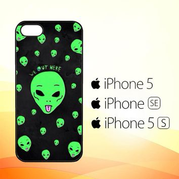 Alien We Out Here X4148  iPhone 5|5S|SE Case