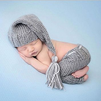 Newborn Baby Girls Boys Cute Crochet Knit Costume Photo Photography Prop Outfits