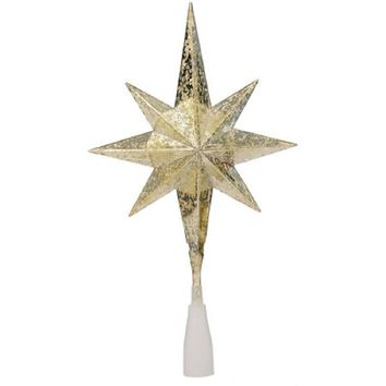 Gold Star Tree Topper with 10 Clear Lights