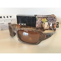 New Oakley Fives Squared Sunglasses Kings Woodland Camo/VR28 Black Iridium Hunt