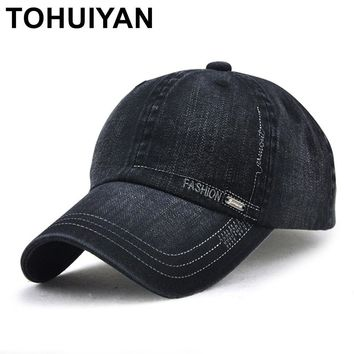 Trendy Winter Jacket TOHUIYAN Mens Vintage Cotton Baseball Cap Adjustable Casquette Polo Hat Curved Visor Snapback Caps Summer Autumn Strapback Hats AT_92_12