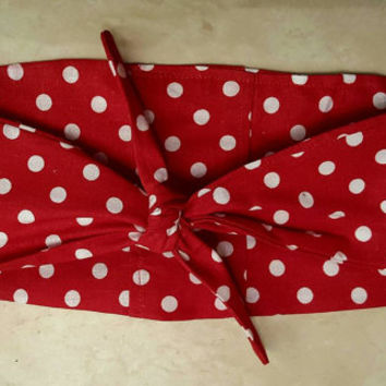 Pin - up - rockabilly  - Retro  - vintage  - polka - dot - Rosie - riveter  -  hair tie