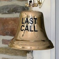 Last Call Engraved Brass Bell | A Simpler Time
