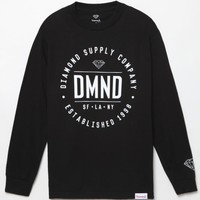 Diamond Supply Co Cargo Long Sleeve T-Shirt - Mens Tee - Black