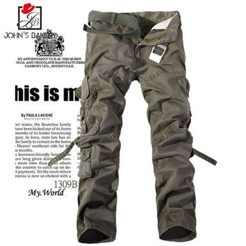 New Arrived 2017 Brand Casual Joggers Working Trousers Compression Pants Men Cotton Trousers Calabasas Cargo Pants Mens Leggings
