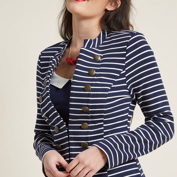 Ahoy, Adorable! Knit Blazer