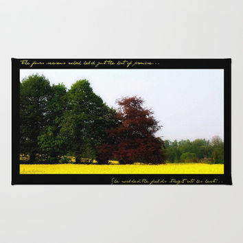 The Changing Colors Of Fall  Area & Throw Rug by Louisa Catharine Forsyth #society6 #gift #love