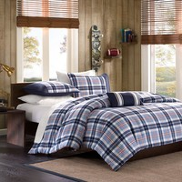Mi Zone Alton Plaid Comforter Set (Blue)