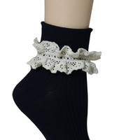 The Ruffle Socks in Black