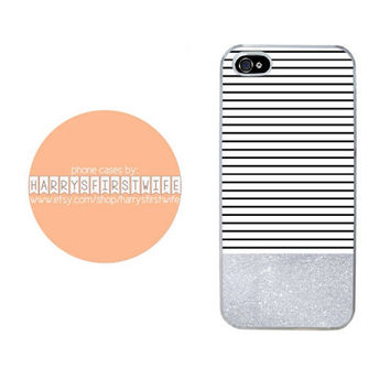 Stripes with Glitter iPhone 4/4s 5/5s/5c/6/6 plus iPod 4/5 & Galaxy S5 Case