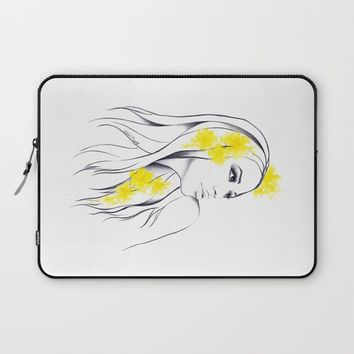 Yellow Laptop Sleeve by EDrawings38 | Society6