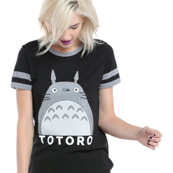 Studio Ghibli My Neighbor Totoro Girls Ringer T-Shirt