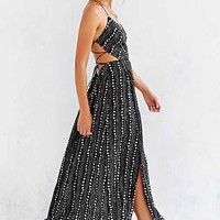 Ecote Strappy Back Safari Maxi Dress