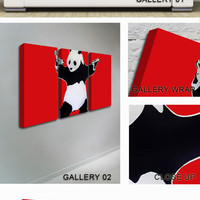 Panda Hold-up Red Canvas