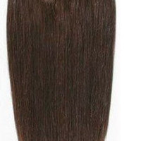 """14"""" 100% Remy Hair Clip In Hair Extensions Chocolate Brown"""