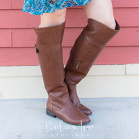 Tall Brown Riding Boot