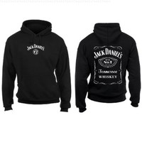 Jack Daniels Men's Daniel's Logo Hooded Sweatshirt Black Medium