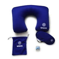 Navigator Travel Kit – Neck Pillow & Eyemask + Free Ear Plugs