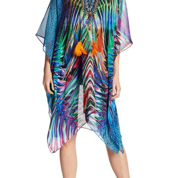 Electric Forest Cross Lace Luxury Caftans and Designer Caftans