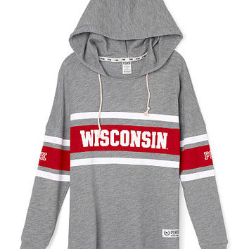 University of Wisconsin Varsity Pullover Hoodie - PINK - Victoria's Secret