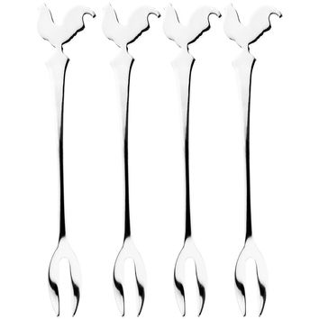Rooster Body Set of Four Appetizer Picks