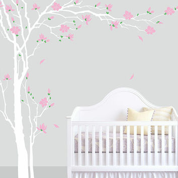 Nursery tree wall decal tree decals vinyl children kids room tree wall decor Plum blossoms Tree stickers Plum blossoms Tree Sticker bedroom