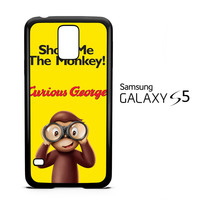 Curious George Funny Monkey Cartoon F0382 Samsung Galaxy S5 Case