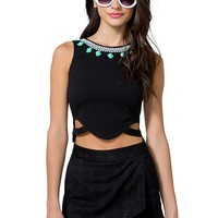 Jade Cut-Out Crop Top