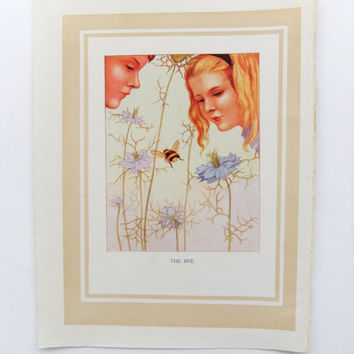 The Bee - Nursery Decor- Vintage Storybook Print - Margaret W. Tarrant - Nursery Art