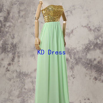 Hot Sale Sequins Long Prom Dress Fashion Bridesmaid Dress Christmas/New Years Dress Wedding Party/Hot Party/Homecoming/Evening Dress