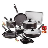 Farberware Reliance 20-piece Black Cookset : Target