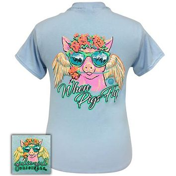 Girlie Girl Originals Preppy When Pigs Fly T-Shirt