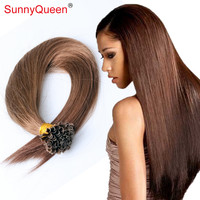 Nail Tip Keratin Hair Ectensions 1g/Strand  U Tip Fusion Human Hair Extension 7A Pre bonded Peruvian Virgin Hair Straight