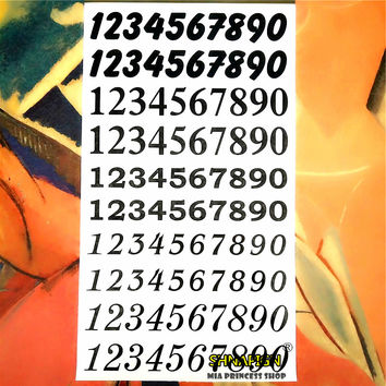 Arabic Numbers 0-9 Kid Temporary Body Art Flash Tattoo Sticker 10*17cm painless Henna selfie Tatoo tattoo stickers