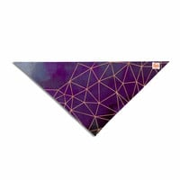"Cafelab ""Watercolor Storm"" Purple Gold Pet Bandana"