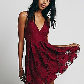Free People Womens Take the Town Mini Dress
